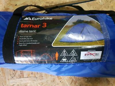Eurohike Tamar 3 Man Tent - family festival backpacking camping three berth blue