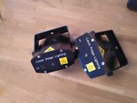 Two laser stage lighting boxes central London bargain