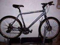 mans aluminium mountain bike