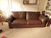John Lewis Large JAVA Leather Sofa