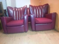 beautiful antique high back sofa. three setter high &two high back armchair.
