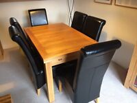 Dining Table and 6 Chairs (Extending solid oak)