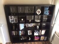 Ikea black-Brown Shelving Unit