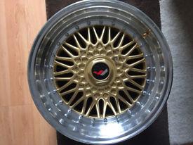 "BBS RS style brand new Alloy wheels 17"" inch 5x100 VW Volkswagen Bora Corrado VR6 Polo alloys wheel"
