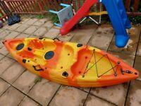 Kayak, seat and paddle
