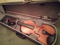 Gliga Gama Beautiful Violin Barely played + chin rest + case
