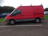 Ford transit medium wheel base medium roof with roof rack