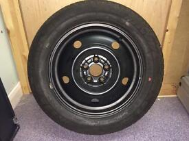 """Subaru 5 Stud full size 15"""" spare wheel fitted with Michelin 195 60 15 tyre"""