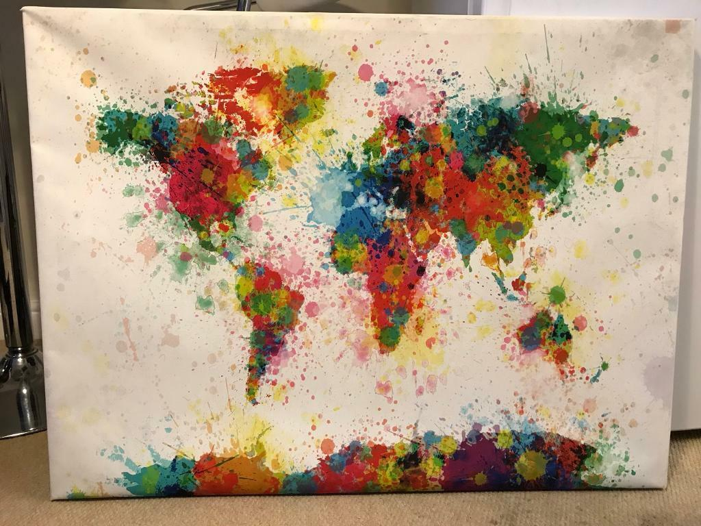 World map canvas in bristol city centre bristol gumtree world map canvas gumiabroncs Images