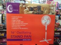 """Bran new Stan fan 16"""" oscillating in box very good for this hot weather"""