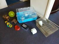 Hamster cages and equipment