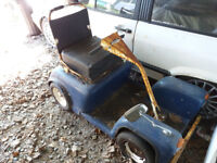 Braune Vintage mobility carriage. Kids Land rover donor vehicle