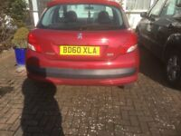 Peugeot 207 very low mileage.