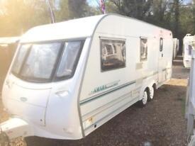 Caravan amara 580/4 4berth twin wheel 21ft full awning