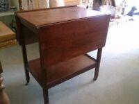 Lovely little table/trolley - solid oak