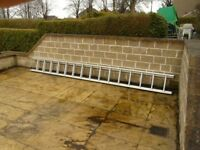 3.9m Aluminium Extension Ladders - 7.1m extended (Almost Brand New)