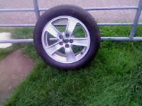 1 Toyota Genuine 16 in alloy 5 x 100 with tyre, ideal spare, v.good condition