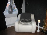 Cream leather chair - £150.00