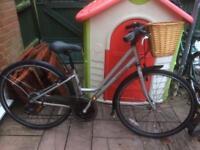 Raleigh pioneer hybrid with basket