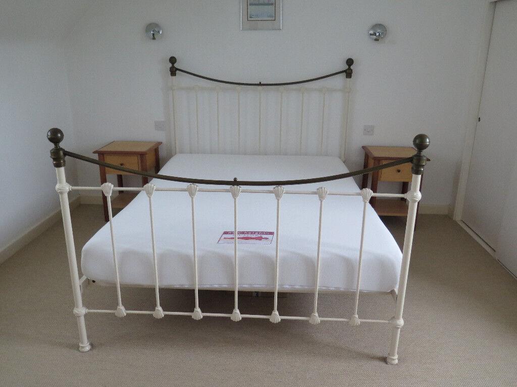 King Size Metal Bed Frame With Memory Foam Mattress In Woodbridge