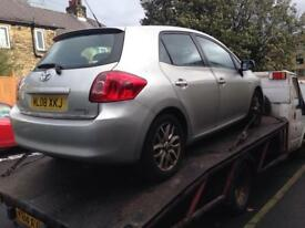 TOYOYA AURIS 1.6 VVTI PETROL 2006 2007 2008 2009 2010 2011 BREAKING FOR SPARES