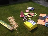 Giant garden or indoor toys 3 boxed games £10