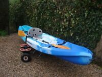 Ocean Scrambler XT Kayak, 12 ft ideal for fishing