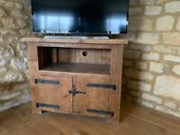 Rustic wooden TV unit