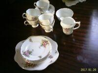 Spencer Stevens bone china tea set, 14 pieces
