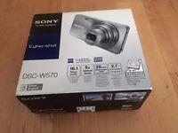 Sony DSCW570 Cyber-shot Digital Still Camera - Silver (16.1MP, 5x Optical Zoom) 2.7 inch LCD