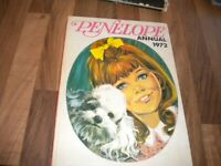 Girls annual Vintage Penelope Annual 1972 collectable