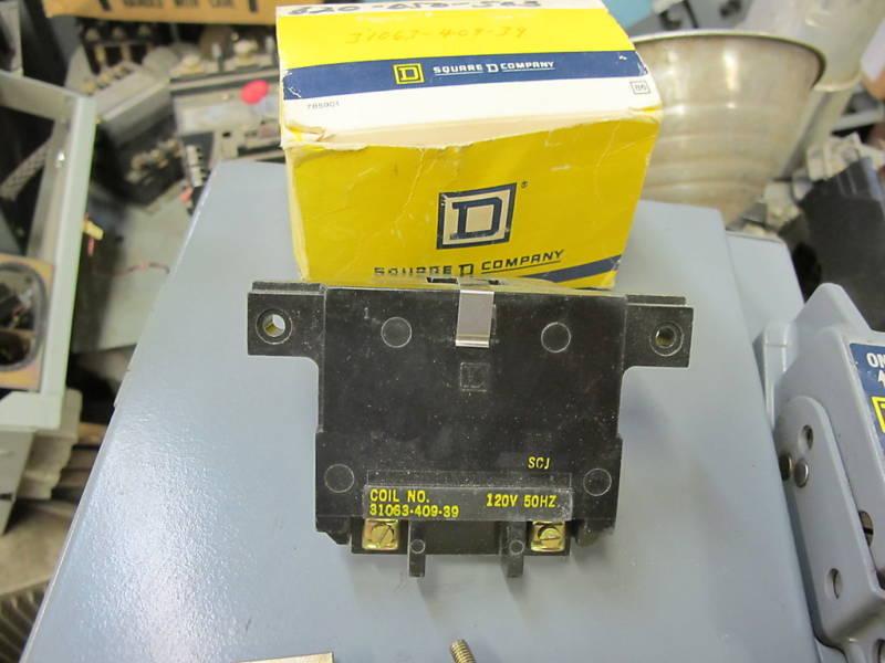 Square D 31063-409-39, 120 Volt Control Coil- NEW