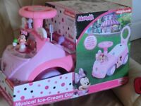 """NEW"" MINNIE MOUSE MUSICAL ICE CREAM CAR (LIGHTS & SOUNDS) See Photo's & Description"