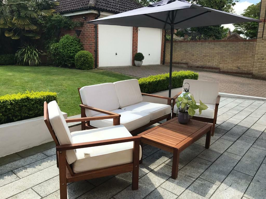 Image 1 of 8. Conservatory Patio Garden Furniture with umbrella   in Watford