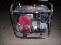 An older Generac EC2100 240 / 110 volt generator