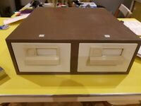 Drawers, for card index filing