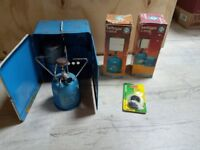 Camping Gaz stove and lamps