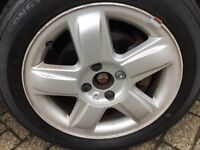 Renault Clio 15 Inch Alloy Wheel 4 Stud with Excellent Tyre 185 55 15