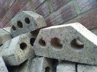 22 unused shaped header bricks