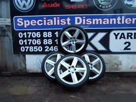 SEAT EXEO HIGHLINE 2013 ALLOYS 18INCH WITH TYRES