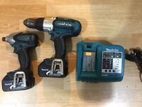 LXT Makita drill 18v and LXT Makita impact driver LXT