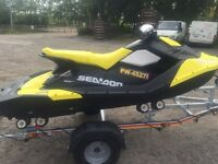 Seadoo Spark 3up 90hp Jet Ski 2016 model New SBS Roller trailer with all Extras included