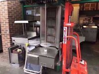 SECONDHAND RESTAURANT KITCHEN MACHINE GRILL FASTFOOD SHAWARMA CATERING CAFE DONER KEBAB COMMERCIAL