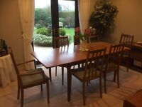 Original extending McIntosh T3 teak dining table and 6 chairs