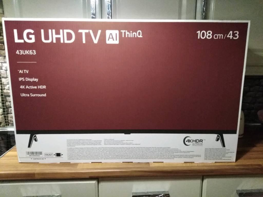 Lg 434k Ultra Ai Thinq Tv New In Dunmurry Belfast Gumtree