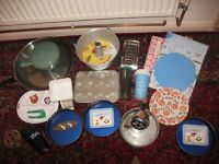 Job Lot Kitchen Items Brabantia Frying Pan Denby Stoneware Pot Salter Scales Lakeland Quality VGC