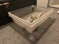 4 x IKEA Pax/Komplement Metal Basket with Pull Out Rail 75 x 58cm