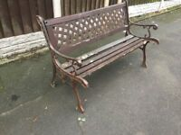 Original Cast Iron Garden Benches For Restoration- delivery available