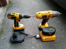 Dewalt Impact Wrench and Drill