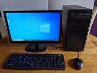 Windows 10 Professional – 8GB RAM – 120GB SSD + 500GB HD – Wi-Fi – Desktop PC/Computer